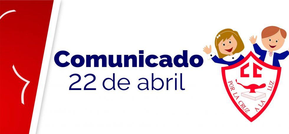 Comunicado 22 de abril