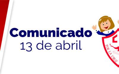 Comunicado 13 de abril