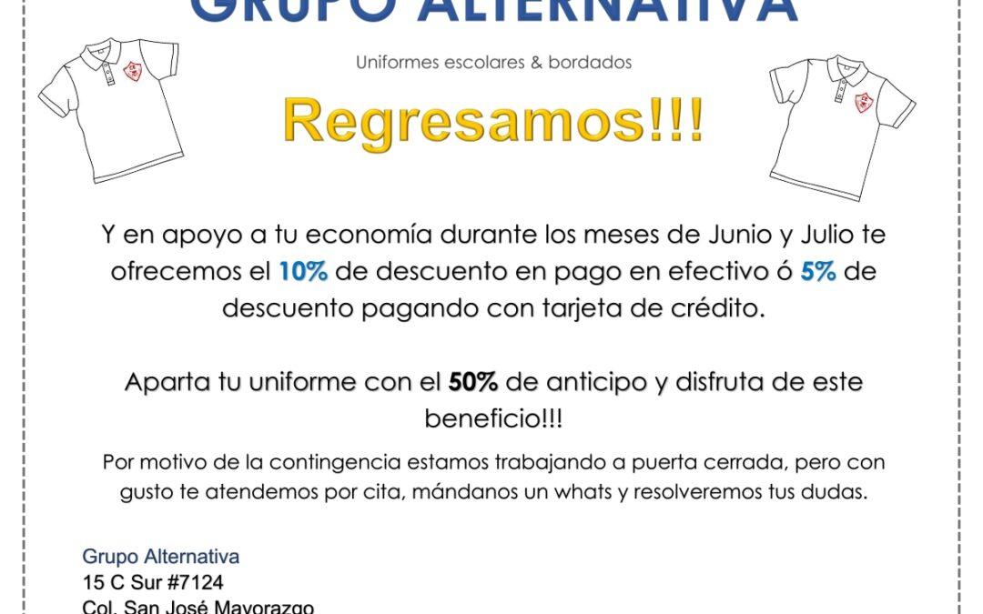 Grupo Alternativa, uniformes escolares &bordados