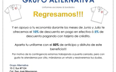 Grupo Alternativa, uniformes escolares &bordados