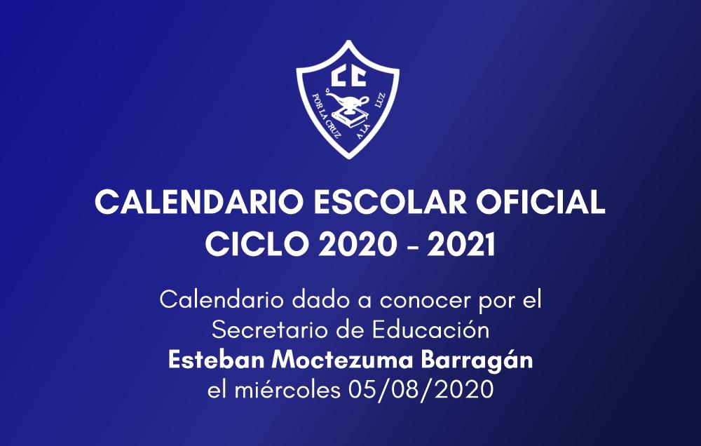 Calendario oficial SEP, ciclo 2020 – 2021