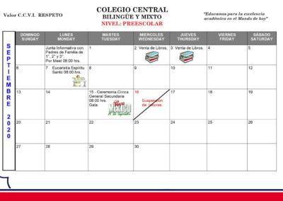 Preescolar - Agenda septiembre