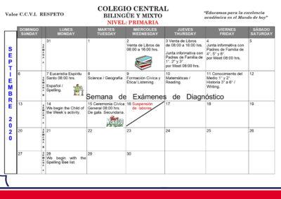 Primaria - Agenda septiembre