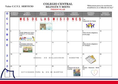 Agenda Preescolar Octubre 2020 prees