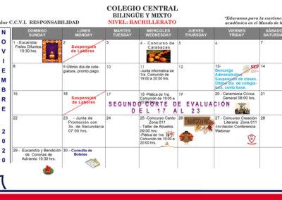 Agenda de Noviembre bachillerato