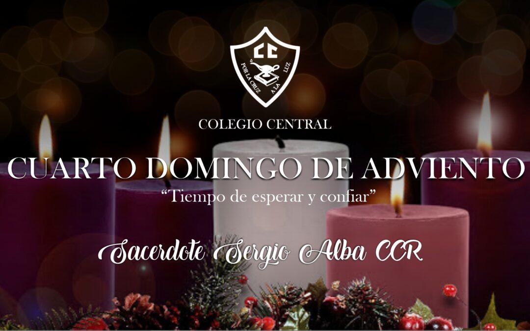 Cuarta semana de Adviento, el Padre Sergio Alba CCR nos comparte este mensaje