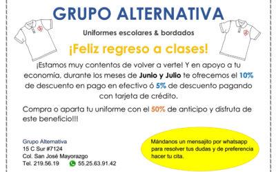 Grupo Alternativa, proveedor oficial
